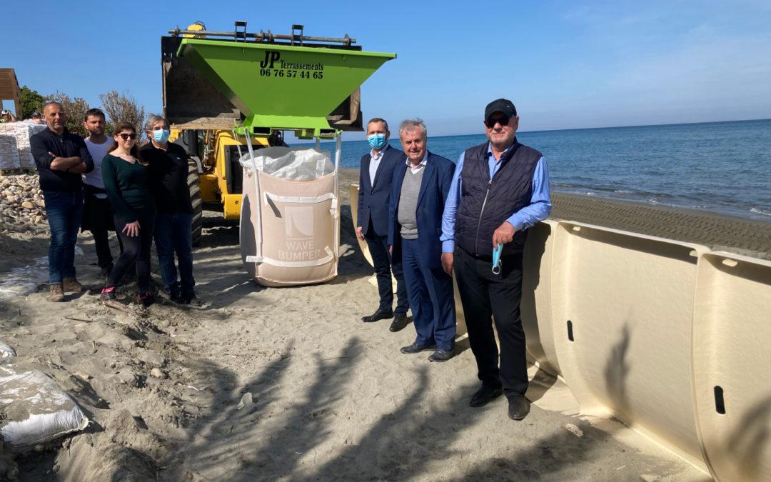 Expérimentation visant à lutter contre l'érosion du littoral